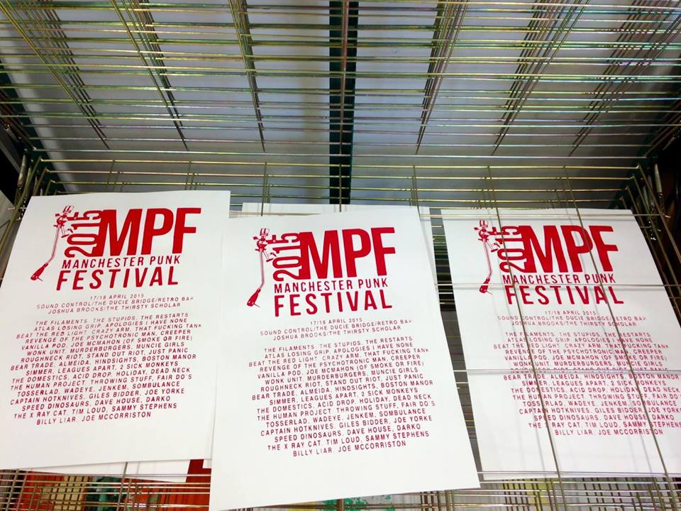 Manchester Punk Festival Screen Prints