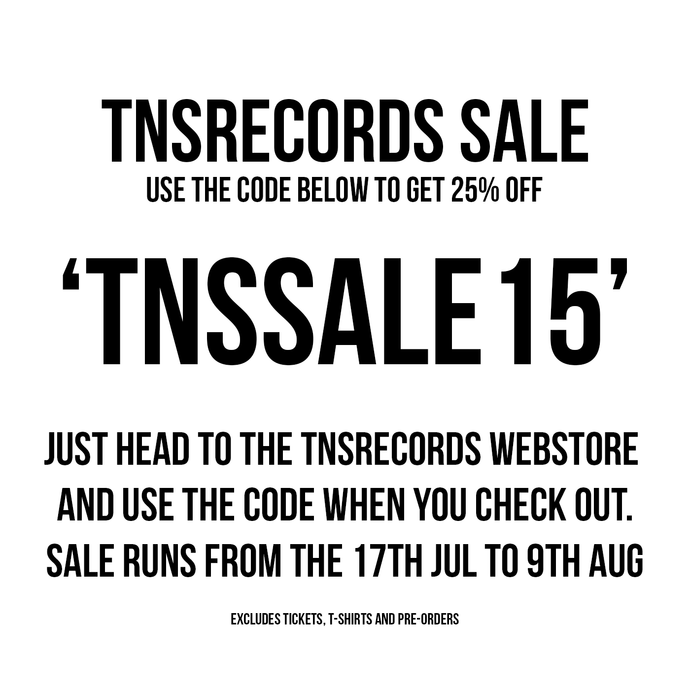 TNS Summer Sale 2015